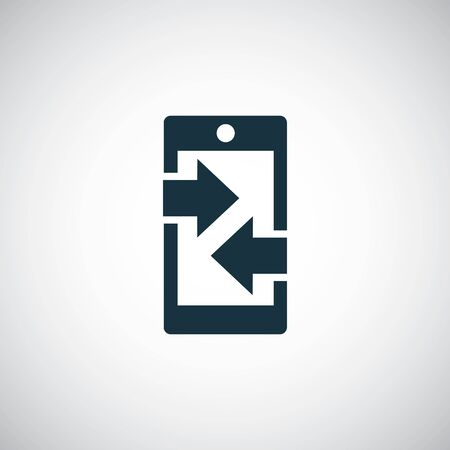 smartphone arrow icon trendy simple concept symbol design