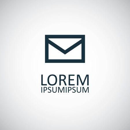 e-mail icon trendy simple concept symbol design