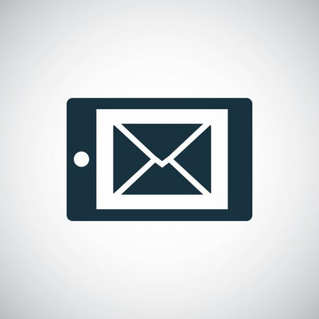 mail smartphone icon simple concept symbol design