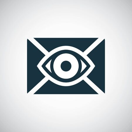 mail eye icon simple concept symbol design