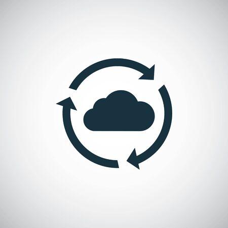 cloud computing icon trendy simple concept symbol design Ilustracja