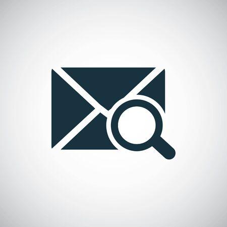 mail search icon trendy simple concept symbol design