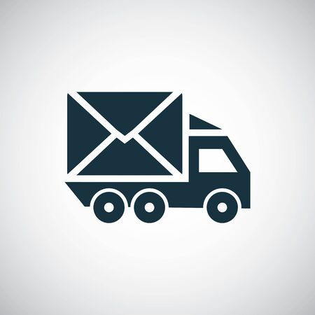 car mail icon simple concept symbol design