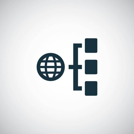 internet network icon trendy symbol concept template