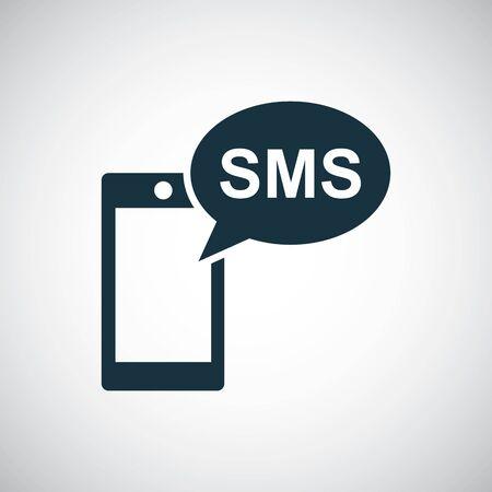 smartphone sms icon trendy symbol concept template