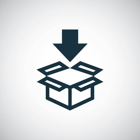 box arrow icon trendy simple symbol concept template Illustration