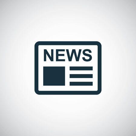 icono de noticias plantilla de concepto de símbolo simple de moda