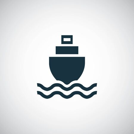 ship in the sea icon trendy simple symbol concept template Çizim