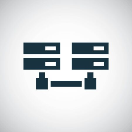 server network icon trendy symbol concept template