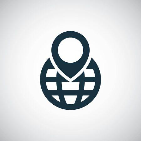 globe pin icon trendy simple symbol concept template