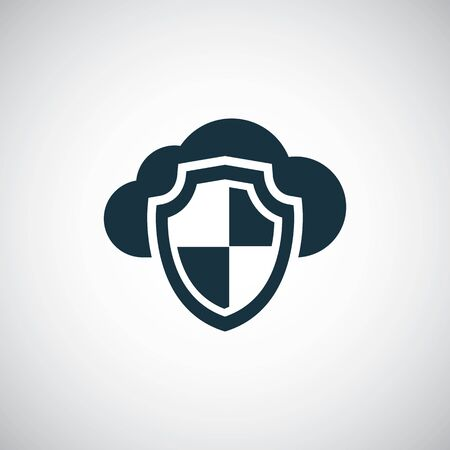 cloud shield icon trendy symbol concept template 일러스트