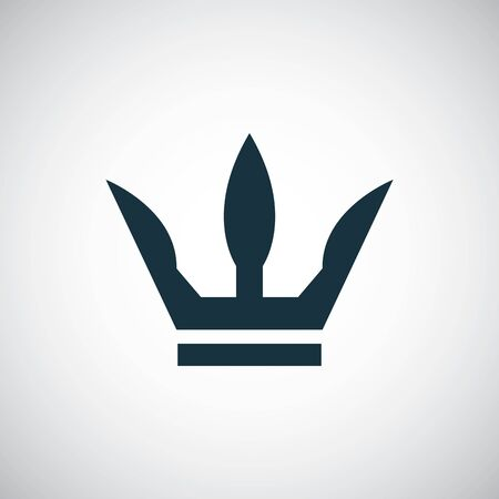 crown icon, on white background. Illustration