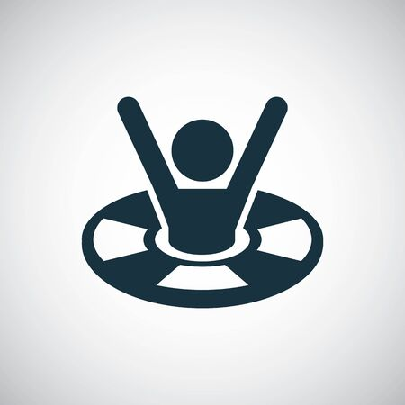 Lifebuoy saving man icon trendy simple symbol concept template 일러스트