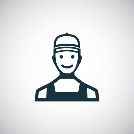 worker icon trendy simple symbol concept template Ilustracja