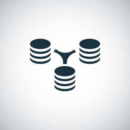server network icon trendy symbol concept template