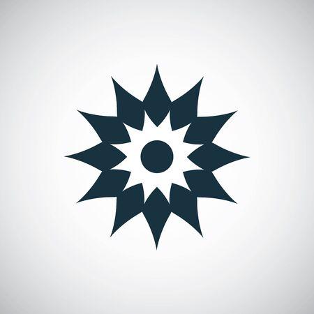 flower icon, on white background
