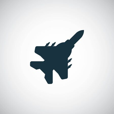fighter plane icon simple flat element concept design
