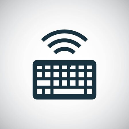 wireless keyboard icon simple flat element design concept Illustration
