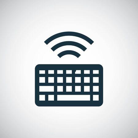 wireless keyboard icon simple flat element design concept 일러스트