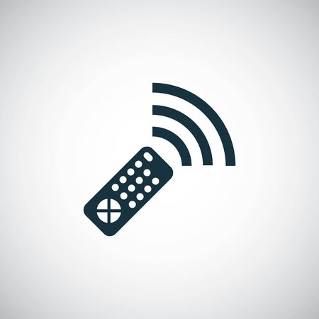 remote control icon simple flat element design concept