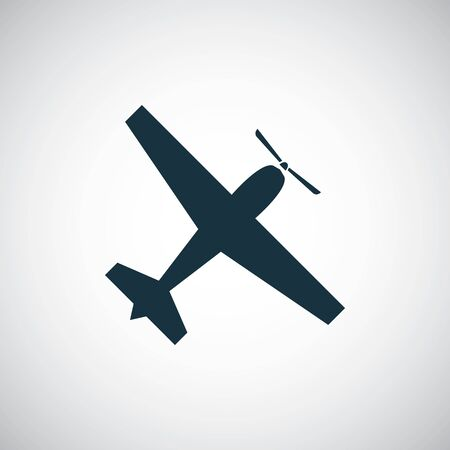 plane icon simple flat element concept design
