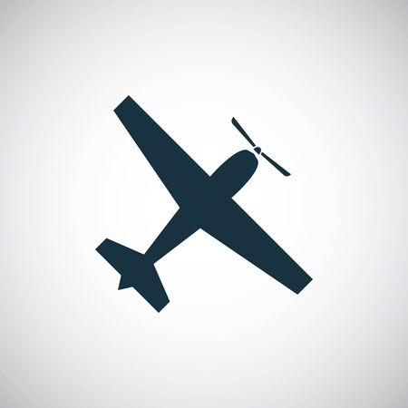plane icon simple flat element concept design