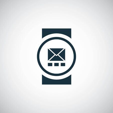 smart watch icon simple flat element design concept