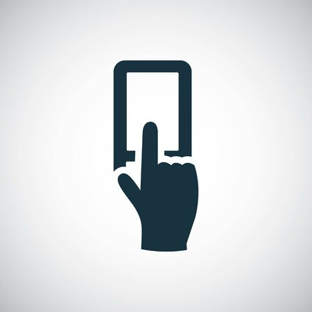 touch smartphone icon simple flat element design concept
