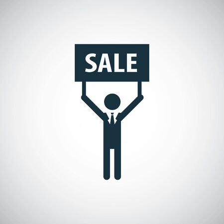 man sale banner icon simple flat element concept design