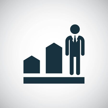 man diagram arrow icon simple flat element design concept