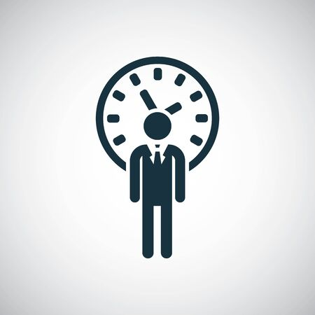 man time icon simple flat element concept design 向量圖像