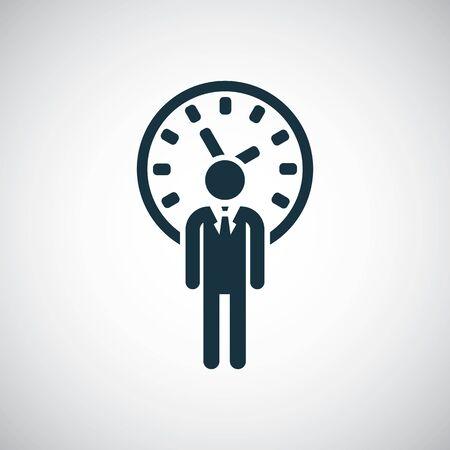 man time icon simple flat element concept design Illustration