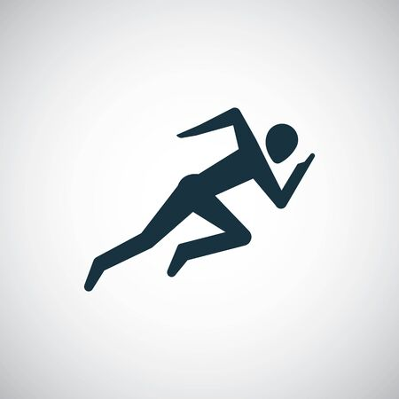 runner icon simple flat element concept design