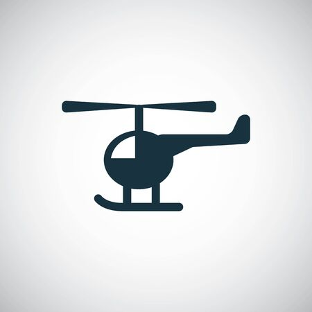 helicopter icon simple flat element concept design Ilustração