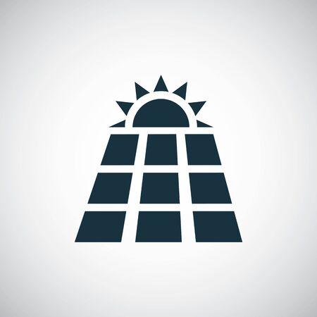 solar energy icon simple flat element concept design 向量圖像
