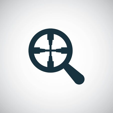 magnifier target icon simple flat element design concept Çizim