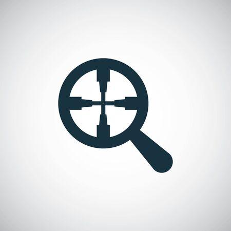 magnifier target icon simple flat element design concept Illustration