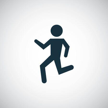 running man icon simple flat element concept design Stock Illustratie