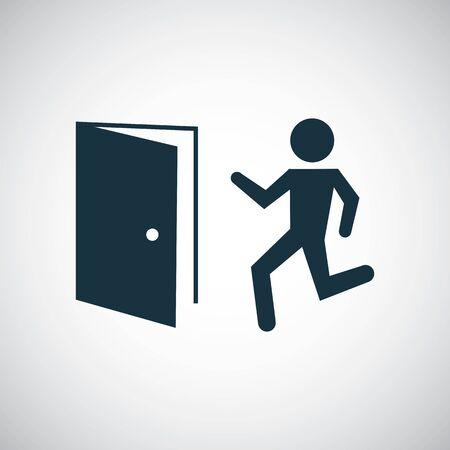 exit icon simple flat element concept design