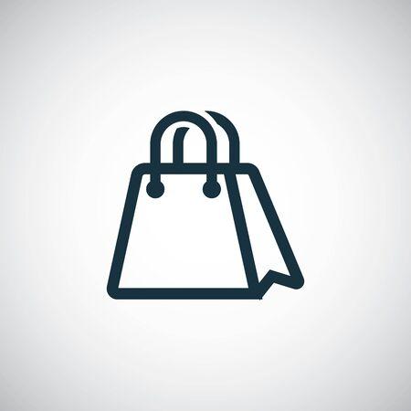 shopping bag icon simple flat element design concept