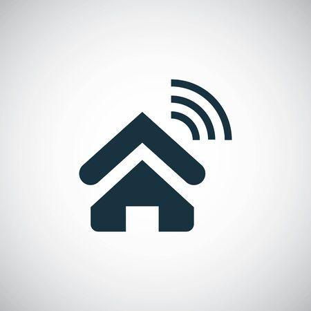 home wifi icon, on white background.