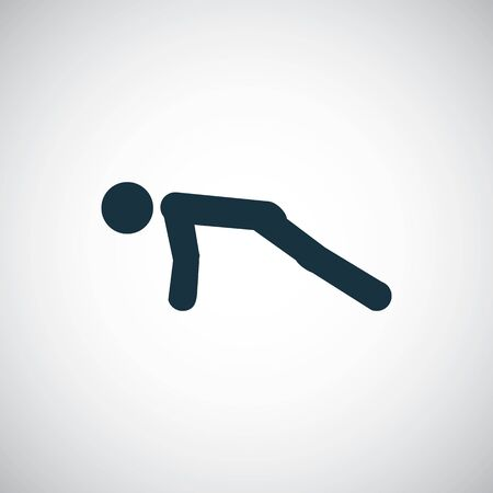 push ups icon, on white background.