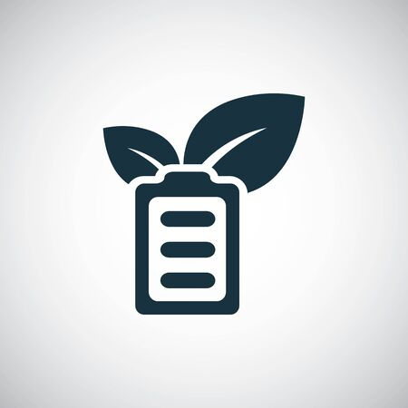 green energy battery icon simple flat element concept design 向量圖像