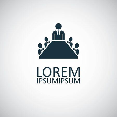 meeting icon, on white background.