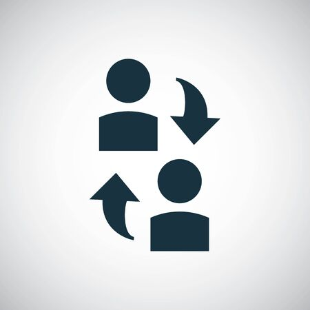 man arrows icon simple flat element design concept Vectores