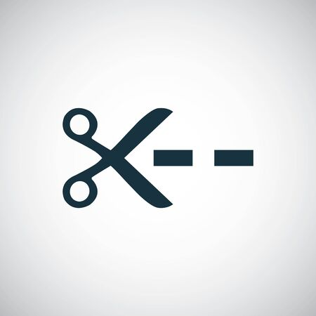 scissors line icon simple flat element design concept