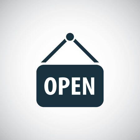 open icon simple flat element design concept Ilustração
