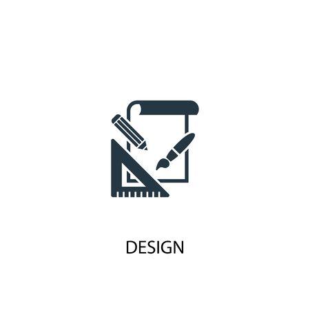 design icon. Simple element illustration. design concept symbol design. Can be used for web and mobile. Illusztráció