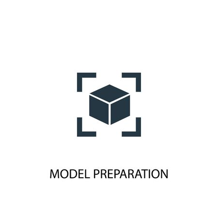 model preparation icon. Simple element illustration. model preparation concept symbol design. Can be used for web Иллюстрация