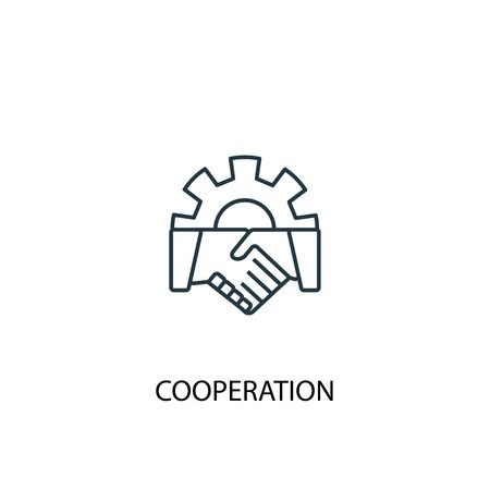 cooperation concept line icon. Simple element illustration. cooperation concept outline symbol design. Can be used for web and mobile